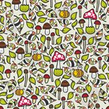 Seamless pattern with mushrooms. Stock Photography