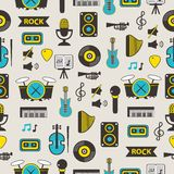 Seamless pattern with music equipment Royalty Free Stock Image