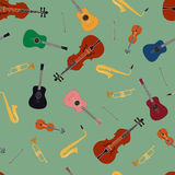 Seamless pattern of music instrument Royalty Free Stock Photos