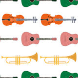 Seamless pattern of music instrument Royalty Free Stock Photo