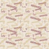 Seamless music pattern Stock Image
