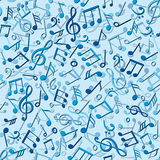 Seamless pattern with music notes Royalty Free Stock Photography