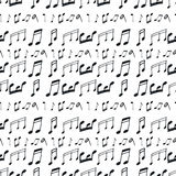 Seamless pattern with music notes Stock Photo