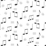 Seamless pattern of music notes royalty free illustration