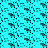 seamless pattern with music notes Stock Photos