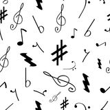 Seamless pattern with music symbols Royalty Free Stock Image
