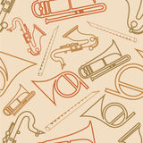 Seamless pattern with musical instrument. Musical seamless pattern with musical instrument Royalty Free Stock Images