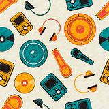Seamless pattern of musical instrument. Royalty Free Stock Photography