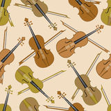 Seamless pattern of musical instrument. Stock Photography