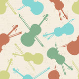 Seamless pattern of musical instrument. Royalty Free Stock Images