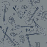 Seamless pattern with musical instruments Royalty Free Stock Photography