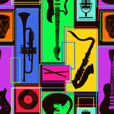 Seamless pattern of musical instruments Royalty Free Stock Photo