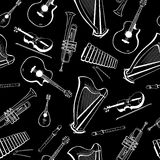 Seamless pattern with musical instruments. Seamless texture design Royalty Free Stock Photography