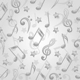 Seamless pattern with a musical notes Stock Photo