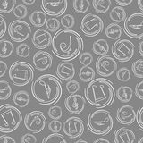 Seamless pattern with musical notes. Stock Image