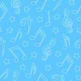 Seamless pattern with musical notes. Vector illustration Royalty Free Stock Photography