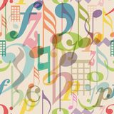 Seamless pattern musical symbols Royalty Free Stock Photo