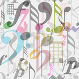 Seamless pattern musical symbols Stock Photography