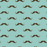 Seamless pattern with mustache Royalty Free Stock Image