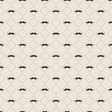 Seamless pattern with mustache Stock Image