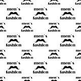 Seamless pattern with mustache. vector Stock Photography