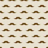 Seamless pattern with mustaches. Male fashion hipster background Stock Photography