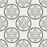 Seamless pattern with mystical astrological sign Royalty Free Stock Photo