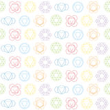 Seamless pattern with names of chakras in Sanskrit Royalty Free Stock Images