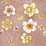 Seamless pattern with narcissus Stock Photos