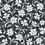 Seamless pattern with narcissus flowers. Vector illustration. Stock Images
