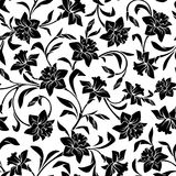 Seamless pattern with narcissus flowers. Vector illustration. Royalty Free Stock Images