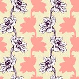 Seamless pattern with narcissus Stock Images