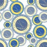 Seamless pattern natal astrological chart, zodiac signs. vector. Seamless pattern blue natal  astrological chart, zodiac signs vector illustration Stock Photos