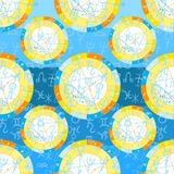 Seamless pattern natal astrological chart, zodiac signs. vector. Seamless pattern natal  astrological chart, zodiac signs on blue vector illustration Royalty Free Stock Image