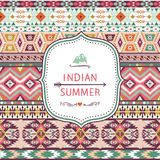 Seamless pattern in native american style Royalty Free Stock Photography