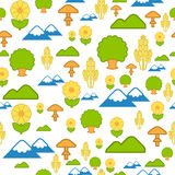 Seamless pattern of nature Stock Image