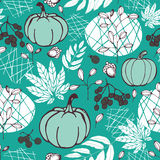 Seamless pattern with nature Royalty Free Stock Images