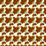 Seamless pattern. Seamless nature pattern, colorful and stylized stock illustration