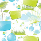 Seamless pattern - nature elements Royalty Free Stock Image