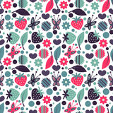 Seamless pattern with nature elements Stock Photography