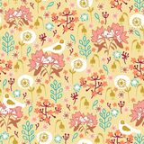 Seamless pattern with nature Stock Images