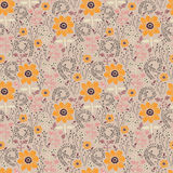 Seamless pattern with nature Stock Photo