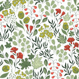 Seamless pattern with nature Stock Photos