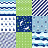 Seamless pattern with nautical elements. Seamless pattern set with nautical elements Stock Image