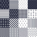 Seamless pattern with nautical elements royalty free illustration