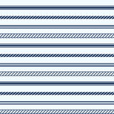 Seamless pattern with nautical elements Stock Photo