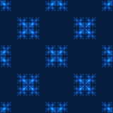 Seamless pattern with neon squares Royalty Free Stock Images