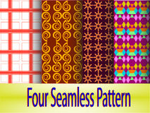 4-seamless-pattern Stock Photos