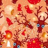 Seamless pattern. New Year Christmas.  Stock Photo