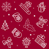 Seamless pattern for new year or merry christmas. Vector illustration Stock Photo